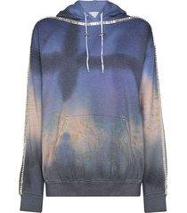 collina strada sporty spice graphic-print hoodie - blue