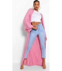 wide sleeve maxi kimono, rose