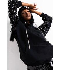 akira back off rhinestone bling hoodie