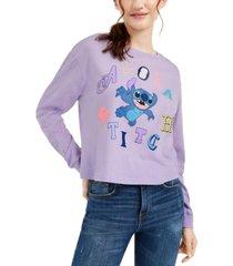 disney juniors' graphic-print stitch long-sleeve t-shirt
