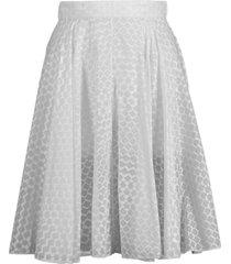 grid effect skirt