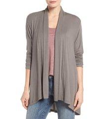 women's hi lo cardigan sweater, size small - grey