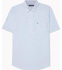 tommy hilfiger men's adaptive regular fit popover shirt provence - xxl