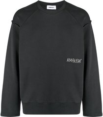 ambush embroidered-logo drop-shoulder sweatshirt - grey