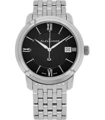 alexander watch a111b-03, stainless steel case on stainless steel bracelet