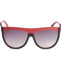 emilio pucci women's 60mm oversized two-tone sunglasses - black