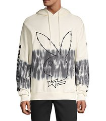 playboy tie-dye cotton hoodie