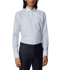 boss men's jason pastel blue shirt