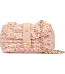chanel pre-owned 2006 woven cc shoulder bag - pink