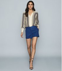 reiss lyla - tailored shorts in blue, womens, size 10