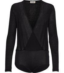 joanie t-shirts & tops long-sleeved svart baum und pferdgarten