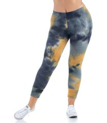 women's plus size tie dye print ankle cuff sweatpants