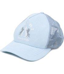 amiri embroidered-logo cap - blue
