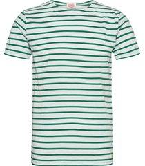 original breton striped shirt t-shirts short-sleeved grön armor lux