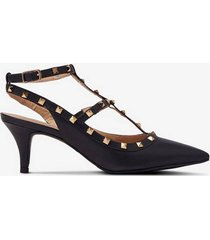 pumps helene vegetal gold studs