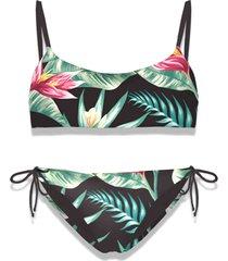 mc2 saint barth heliconia print girl bralette bikini #losangeles