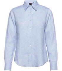 8727 w - sandie new overhemd met lange mouwen blauw sand