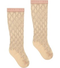 gucci gg crystal-embellished socks - neutrals