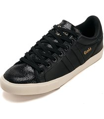 tenis lifestyle negro-blanco gola orchid fracture