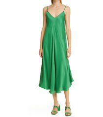 l'agence lorraine sleeveless trapeze midi dress, size x-small in amazon green at nordstrom