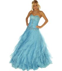 sexy strapless corset aqua cinderella mermaid prom evening gown joli 9538 12