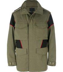 alexander wang panelled field jacket - green