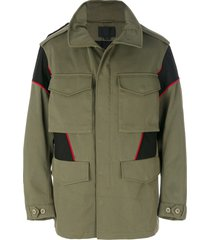 alexander wang panelled field jacket - green