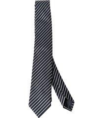 z zegna striped silk tie. model