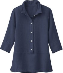 lichte linnen blouse, indigo 40