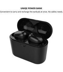 audífonos bluetooth gemelos con caja de carga - negro
