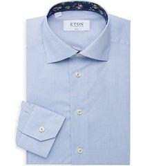 slim-fit button-front dress shirt