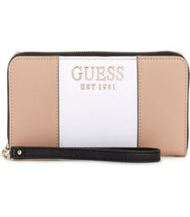 billetera holly slg large zip around multicolor guess