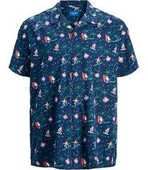 plus-size overhemd met korte mouwen kerstman