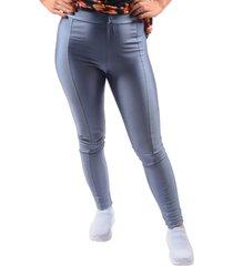 calça benne legging com recorte azul claro