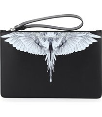 pouch with wings print