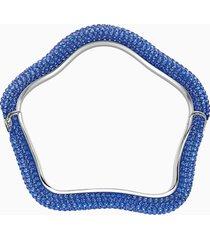 braccialetto tigris, azzurro, placcatura in palladio