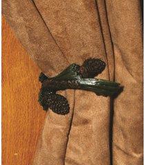 rivers edge pine cone curtain tieback 1 pair