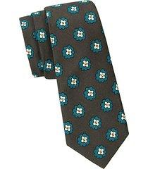 floral wool & silk-blend tie