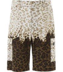 leopard print bermuda pants