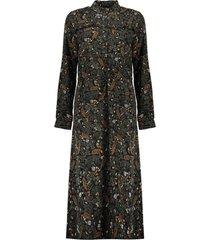 maxi dress leaves&flowers 07623-20