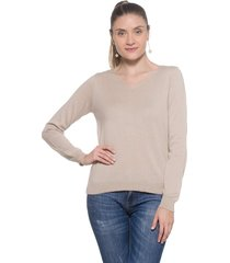 blusa basica passion tricot areia