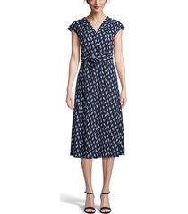 women's anne klein tie waist midi dress