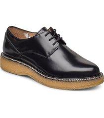 border crepe derby shoe snörade skor låga svart royal republiq