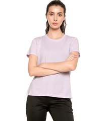 camiseta lila adidas performance go-to