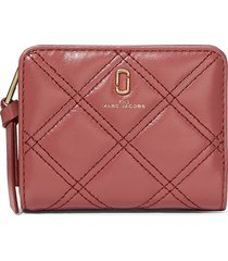 marc jacobs mini the quilted softshot wallet - pink