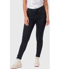 jeans lee ivy negro - calce ajustado