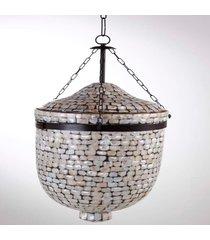 suporte vela pendente- pashmina- vidro- prata - prata - dafiti