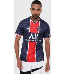 camiseta azul-rojo-blanco nike local stadium del paris saint-germain