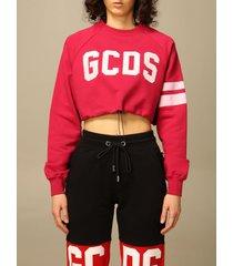 gcds sweatshirt gcds cropped sweatshirt with logo