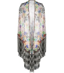 missoni open-knit tasselled shawl - white